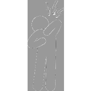 背中の症状ピクトグラム